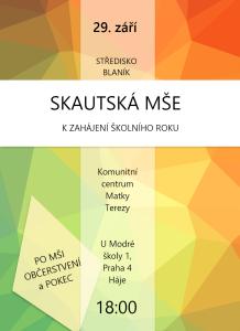 SKAUTSKÁ MŠE 2015